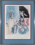 "Explorers:Space Exploration, ""Naval Aviation in Space"" Limited Edition Lithograph Signed by NineNaval Astronauts. ..."