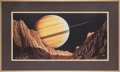 "Explorers:Space Exploration, Kim Poor Signed Limited Edition ""View from a Distant Canyon"" FramedLithograph...."