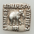 Ancients:Greek, Ancients: GRECO-BACTRIAN KINGDOM. Apollodotus I (ca. 174-165 BC).AR Indic square drachm (2.44 gm). ...