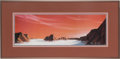 "Explorers:Space Exploration, Kim Poor Signed Limited Edition ""Dawn in the Labyrinth"" FramedLithograph...."