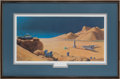 "Explorers:Space Exploration, Chesley Bonestell Signed ""Exploration of Mars"" Framed Lithograph...."