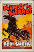 """Movie Posters:Western, King of the Sierras (Grand National, 1938). One Sheets (3) (27"""" X 41"""") Flat Folded. Western.. ... (Total: 3 Items)"""