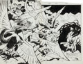 Original Comic Art:Splash Pages, Don Perlin and Kim DeMulder The Defenders #144 Double-PageSplash 18 and 19 Original Art (Marvel, 1985)....