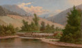Fine Art - Painting, European:Antique  (Pre 1900), FRENCH SCHOOL (19th Century). Mountain Landscape with a Dam,circa 1870s. Oil on canvas. 12 x 20-1/4 inches (30.5 x 51.4...