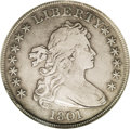 Early Dollars: , 1801 $1 VF20 NGC. B-1, BB-211, R.3. Die State III with a light diecrack descending through S...