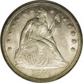 Seated Dollars: , 1847 $1 MS64 PCGS. This near-Gem has charming, satiny luster. Thesurfaces are mellowed to pe...