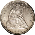Seated Dollars: , 1854 $1 MS62 NGC. Although this date shows a mintage figure of33,140 pieces, that is higher ...