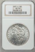Morgan Dollars: , 1883-S $1 AU58 NGC. NGC Census: (655/1661). PCGS Population(449/2612). Mintage: 6,250,000. Numismedia Wsl. Price for probl...