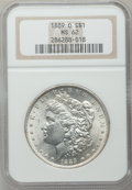 Morgan Dollars: , 1889-O $1 MS62 NGC. NGC Census: (713/2338). PCGS Population(1166/3618). Mintage: 11,875,000. Numismedia Wsl. Price for pro...