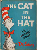 Books:Children's Books, Dr. Seuss. The Cat in the Hat. New York: Random House,[1957]. First edition. Octavo. [ii], [62] pages. Publisher's ...