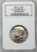 Kennedy Half Dollars: , 1974-D 50C MS64 NGC. Double Die Obverse FS-015. NGC Census:(220/221). PCGS Population (91/306). Mintage: 79,066,304. Numis...