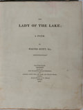 Books:Literature Pre-1900, Walter Scott. The Lady of the Lake; a Poem. Edinburgh: Printed for John Ballantyne and Co. and Longman, Hurst, R...