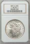 Morgan Dollars: , 1887-O $1 MS63 NGC. NGC Census: (4170/1929). PCGS Population(3669/2763). Mintage: 11,550,000. Numismedia Wsl. Price for pr...