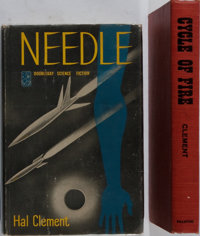 Hal Clement. INSCRIBED. Two Inscribed Books. Needle is a first edition with review slip from Doubleday. Bo