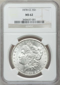Morgan Dollars: , 1878-CC $1 MS62 NGC. NGC Census: (2822/11000). PCGS Population(3625/15840). Mintage: 2,212,000. Numismedia Wsl. Price for ...