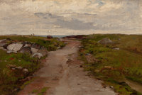 FRENCH SCHOOL (19th Century) Path to the Sea Oil on canvas 12 x 18 inches (30.5 x 45.7 cm) Lar