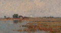 Paintings, MAX WEYL (German/American, 1837-1914). Potomac Marshlands with the United States Capitol in the Distance, circa 1896-190...