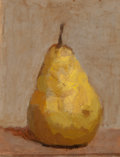 Fine Art - Painting, American:Contemporary   (1950 to present)  , ROBERT KULICKE (American, 1924-2007). Pear, 1970. Oil onpaper board. 8 x 6-1/2 inches (20.3 x 16.5 cm). Signed and date...
