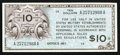 Military Payment Certificates:Series 461, Series 461 $10 Very Fine-Extremely Fine.. ...