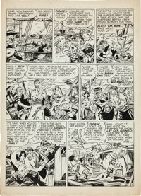 A. C. Hollingsworth Justice Traps the Guilty Pirate Page Original Art Group (Prize, c. 1947).... (Total: 5 Items)