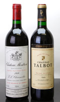 Red Bordeaux, Chateau Montrose . 1989 St. Estephe scl Bottle (1). ChateauTalbot . 1989 St. Julien lscl Bottle (1). ... (Total: 2Btls. )