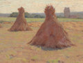 Fine Art - Painting, American:Antique  (Pre 1900), ELMER BOYD SMITH (Canadian-American, 1860-1943). Haycocks,Brittany, France, circa 1890s. Oil on canvas laid onmasonite...