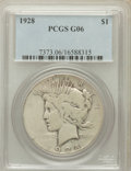 Peace Dollars: , 1928 $1 Good 6 PCGS. PCGS Population (5/8091). NGC Census:(3/6018). Mintage: 360,649. Numismedia Wsl. Price for problem fr...