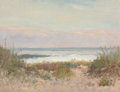 Fine Art - Painting, American:Modern  (1900 1949)  , ARTHUR TURNBULL HILL (American, 1868-1929). Beach, Grass andSurf. Oil on panel. 11-1/2 x 16 inches (29.2 x 40.6 cm). Ol...