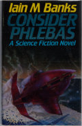 Books:Science Fiction & Fantasy, Iain M. Banks. SIGNED. Consider Phlebas. London: McMillan, 1987. First edition. Signed by the author on the ...