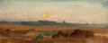 Fine Art - Painting, European:Antique  (Pre 1900), GEORGE HEMING MASON (British, 1818-1872). Landscape (study).Oil on board backed by masonite. 5-1/4 x 13 inches (13.3 x ...