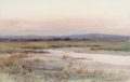 Fine Art - Painting, American:Antique  (Pre 1900), MELBOURNE H. HARDWICK (American, 1857-1916). Dingy on theShore. Watercolor on paper. 12 x 19 inches (30.5 x 48.3 cm)(s...