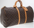 Luxury Accessories:Travel/Trunks, Louis Vuitton Classic Monogram Canvas Keepall 55cm WeekenderOvernight Bag. ...