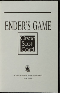 Orson Scott Card. SIGNED/LIMITED. Ender's Game. TOR, 1992. Revised edition, limited to 225 n