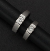 His & Her's Matching Diamond Gold Ring
