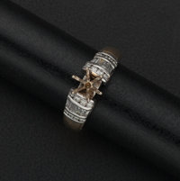Diamond & Gold Ring Ready For A Center Stone
