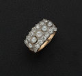 Estate Jewelry:Rings, Cultured Pearl & Diamond Gold Ring. ...