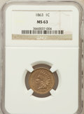 Indian Cents: , 1863 1C MS63 NGC. NGC Census: (475/840). PCGS Population(765/1034). Mintage: 49,840,000. Numismedia Wsl. Price forproblem...