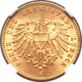 German States:Lubeck, German States: Lubeck. Free City gold 10 Mark 1901-A,...