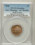 Flying Eagle Cents, 1858 1C Small Letters -- Environmental Damage -- Genuine PCGS. AUDetails. NGC Census: (0/3). PCGS Population (49/730). Nu...