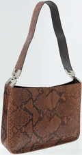 Luxury Accessories:Bags, Prada Natural Brown Python Shoulder Bag. ...