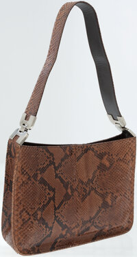 Prada Natural Brown Python Shoulder Bag