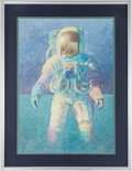"Explorers:Space Exploration, Alan Bean Large Signed Limited Edition ""That's How it Felt to Walkon the Moon"" Framed Lithograph...."