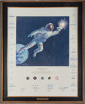 "Explorers:Space Exploration, Alan Bean Large Limited Edition ""Reaching for the Stars"" TexturedCanvas Print Signed by Twenty-Four Astronauts. ..."