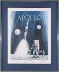 "Explorers:Space Exploration, ""Apollo: Navy to the Moon"" Limited Edition Lithograph Signed byFour Naval Astronauts. ..."