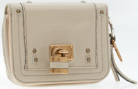 Chloe Beige Leather Bi-Fold Paddington Wallet