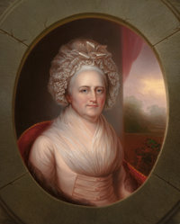 REMBRANDT PEALE (American, 1778-1860) Martha Washington, circa 1856 Oil on canvas 36-1/2 x 29 inc