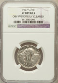 Standing Liberty Quarters, 1927-S 25C -- Obverse Improperly Cleaned -- NGC Details. XF. NGCCensus: (54/276). PCGS Population (84/466). Mintage: 396,0...