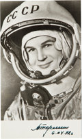Autographs:Celebrities, Valentina Tereshkova Signed Photo. ...