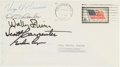 Autographs:Celebrities, Mercury Seven Astronauts: Cover Signed by Five....