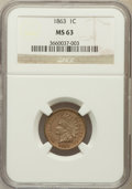 Indian Cents: , 1863 1C MS63 NGC. NGC Census: (475/841). PCGS Population(766/1034). Mintage: 49,840,000. Numismedia Wsl. Price forproblem...
